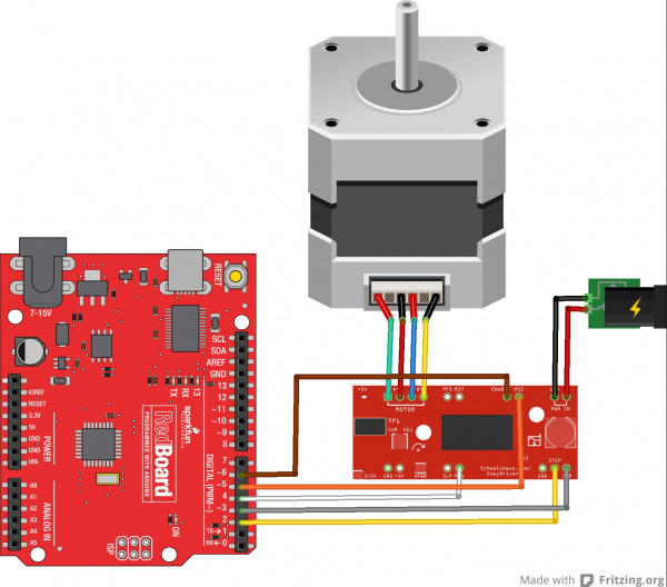 how to connect encoder to arduino