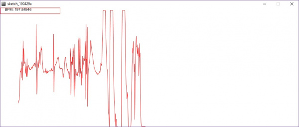 Processing Sketch Displaying a Noisy Waveform