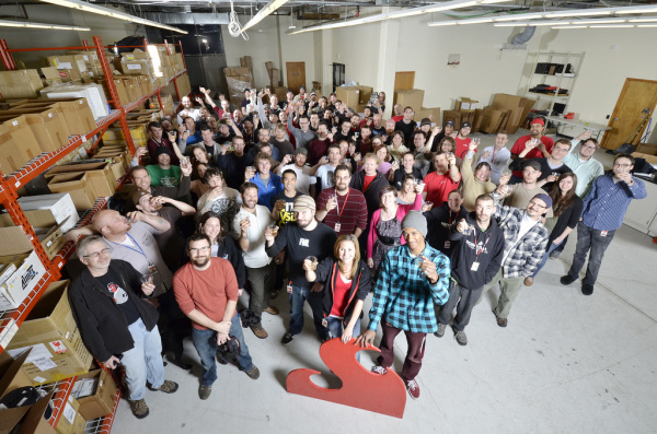 (An older image of) the SparkFun Team