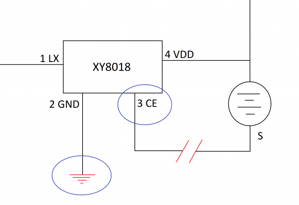 Altered schematic with soil moisture detection probes