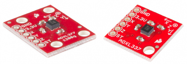 The ADXL337 and ADXL377 Breakout Boards