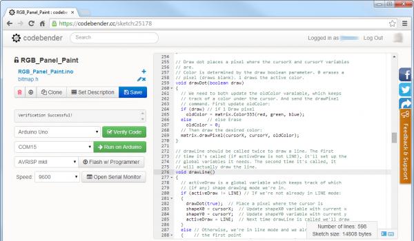 Codebender example