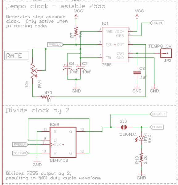 Clock and Divider Schematic