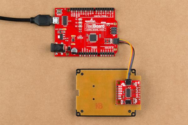 Example setup with RedBoard Qwiic