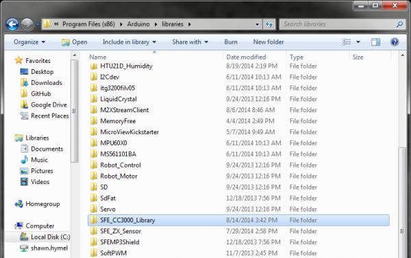 Create library folder