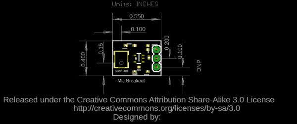 Board Dimensions for ADMP401