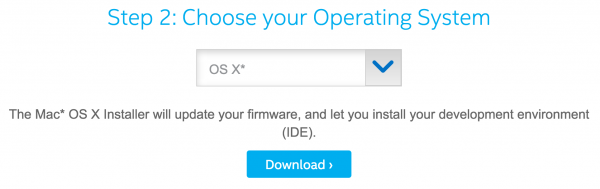 Pick your OS with the Intel Edison Installer