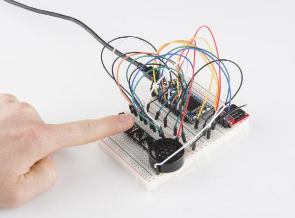 mbed running hardware soundboard