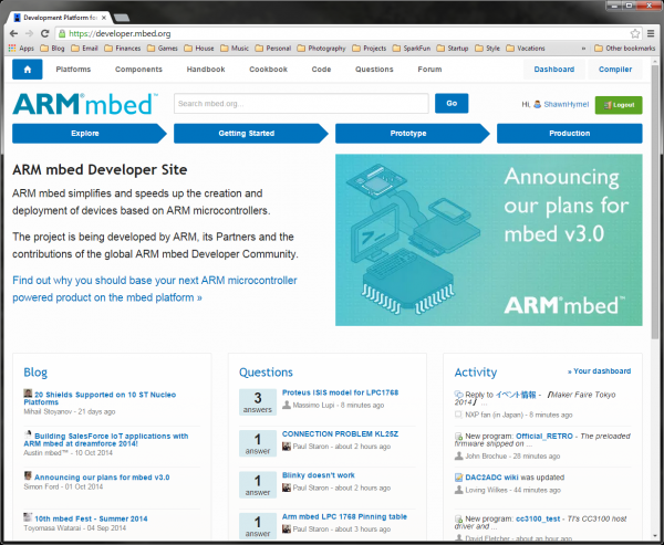 mbed homepage