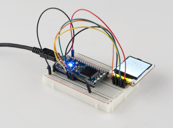 mbed LCD demo running