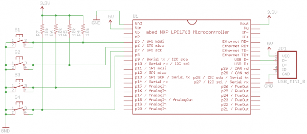 mbed usb device schematic