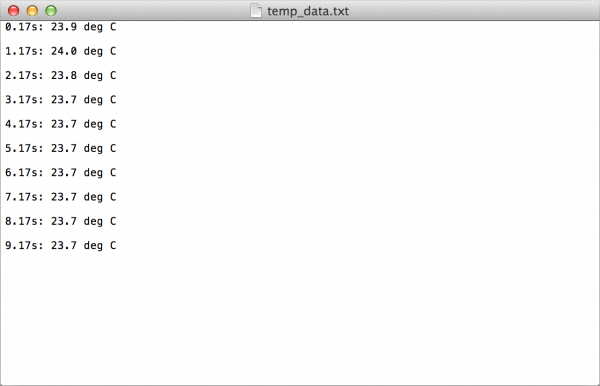 Saved text file on Mac