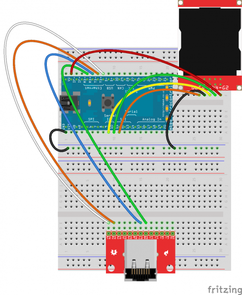 mbed Internet Clock Fritzing