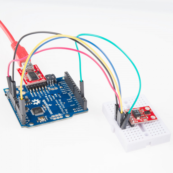 Connect FTDI breakout board to the Arduino Pro