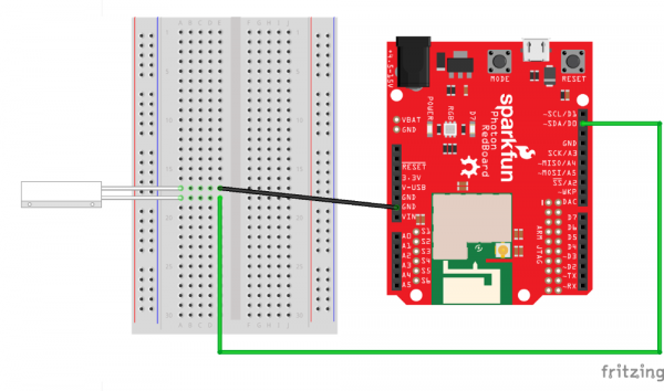 Home Secruity Reed Switch Photon RedBoard