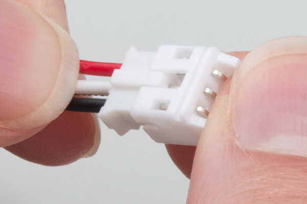 Connecting the JST connector to the PIR Sensor cable