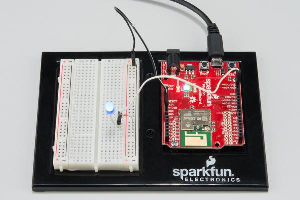 Photon RedBoard LED hookup