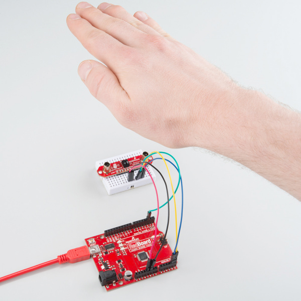 Move your hand above the ZX Sensor