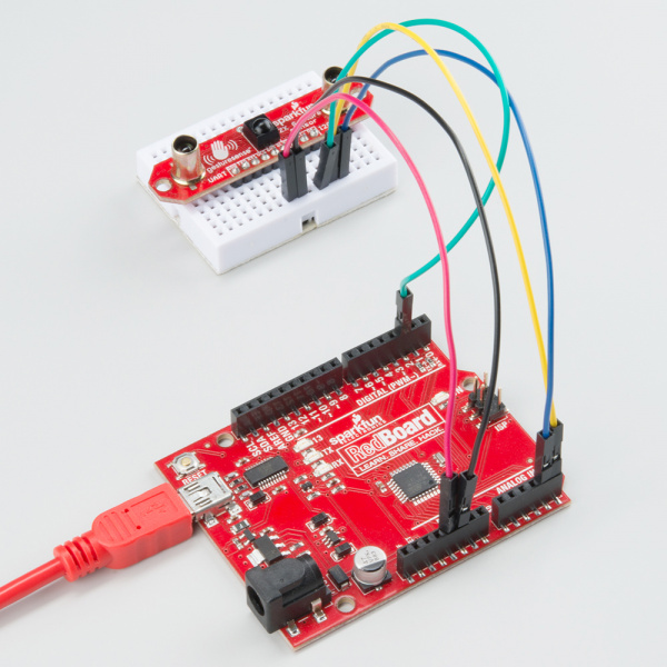 ZX Sensor connected to RedBoard