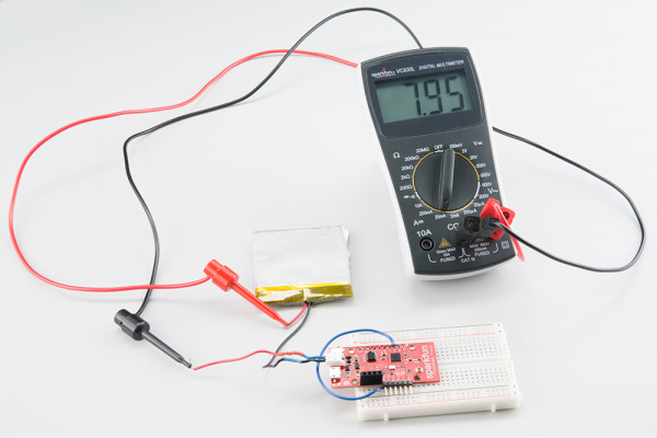 Multimeter measuring current in deep sleep mode