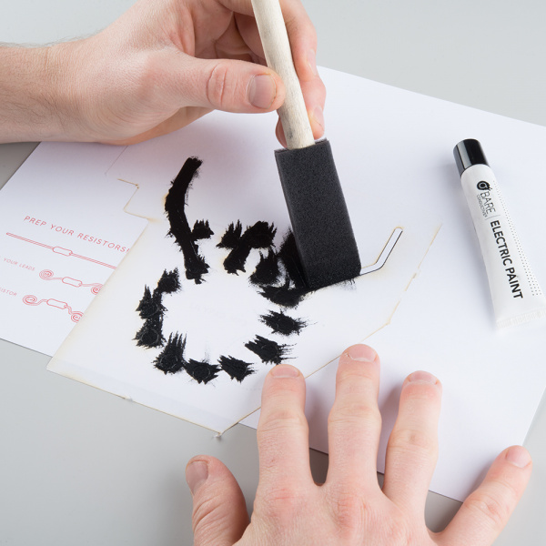Dabbing conductive paint