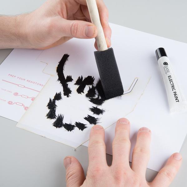 Dabbing conductive paint