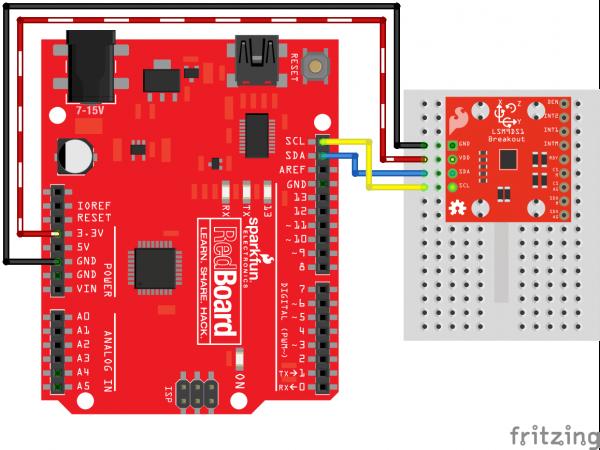 Arduino I2C Fritzing Circuit