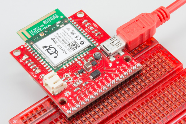 USB power to the imp002 Breakout Board
