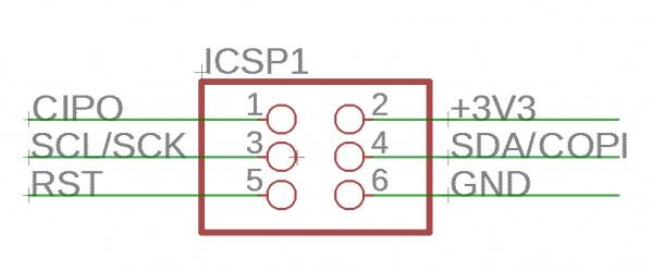 Programming pins of the Qwiic Sensor