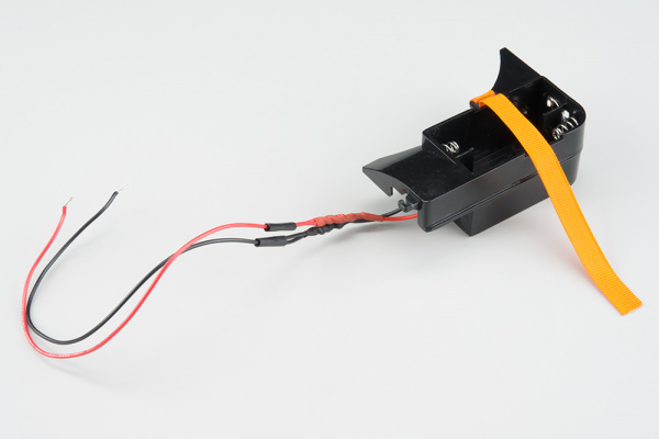Wires to Lockitron battery compartment