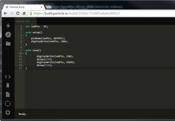 Screenshot of the Build IDE