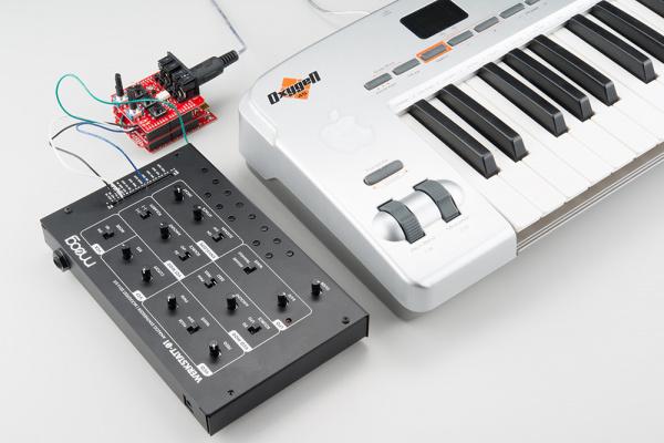 With a MIDI Keyboard
