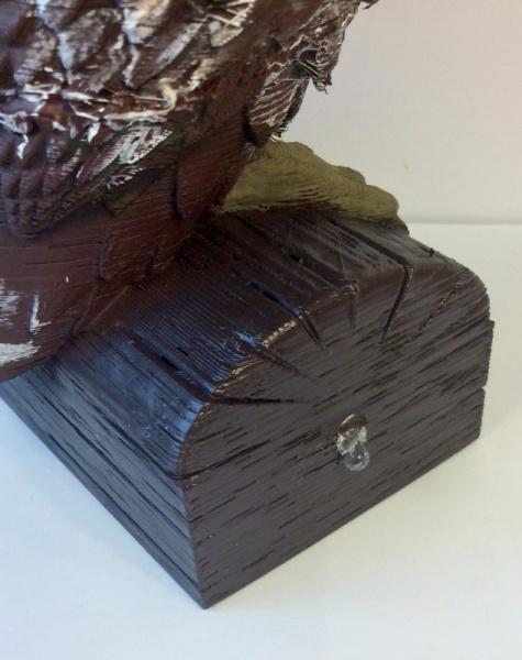 Owl Side of Log