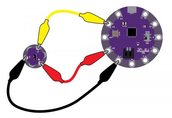 Attaching Sensor to a LilyPad USB