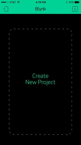 Blank Blynk app