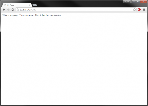 Edison hosting a web page