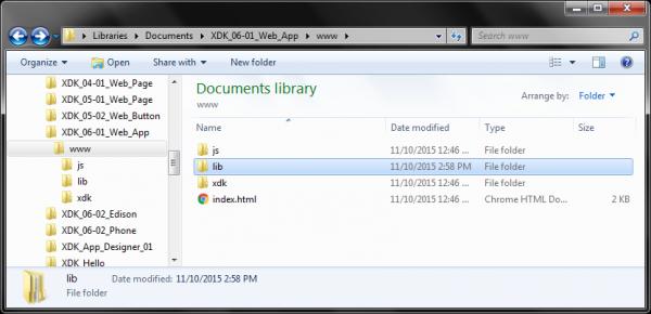 Create lib directory in project
