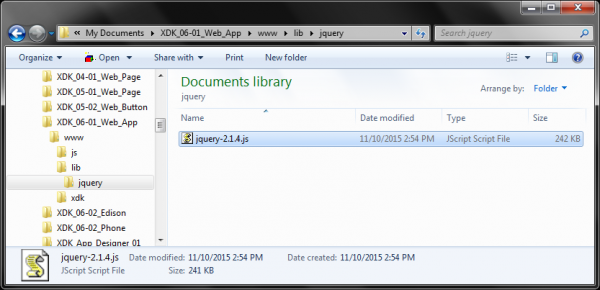 Copying in the jQuery file
