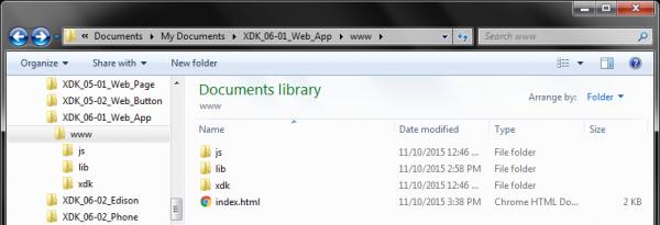 Basic file organization of a web app