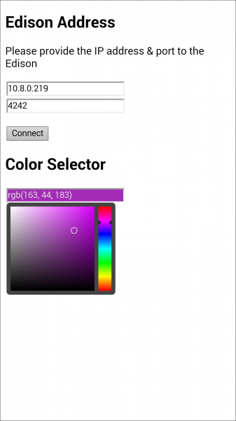 RGB color picker as a web app