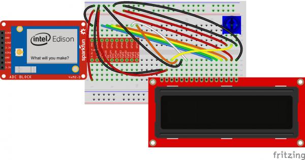 Edison LCD Fritzing