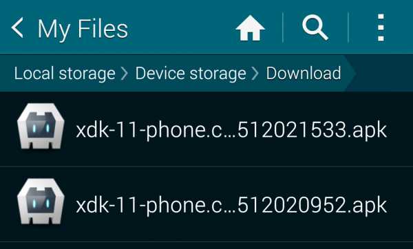 .apk in file browser