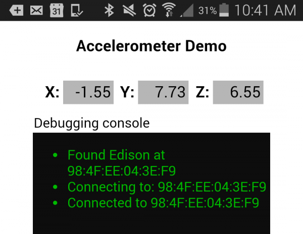 Connecting to the Edison over BLE
