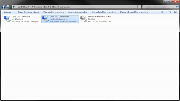 Adapter Settings in Windows