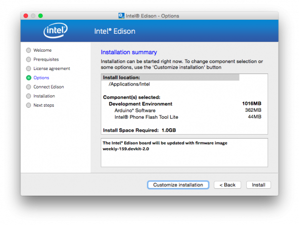 Customize XDK IoT Edition install