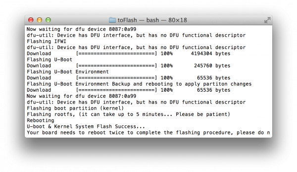 Flashing the Edison from OS X