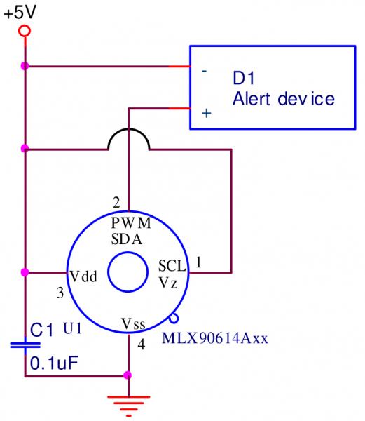 MLX90614 PWM circuit example