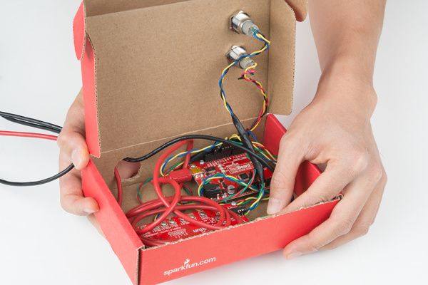Inside of Bluetooth Box with Twisted Wires