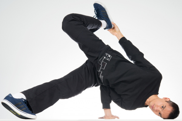 Bboy Holding a Chair Freeze