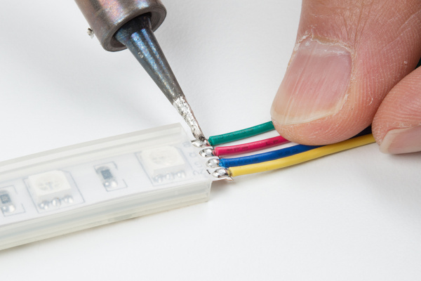 Solder Wires to LED Strip